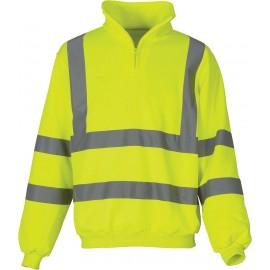 YHVK06 - Signalisatie sweatshirt met 1/4 rits geel