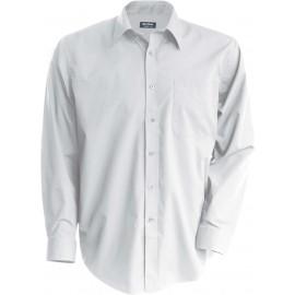 K521 - Kinder poplin overhemd wit