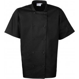 PR656 - Short Sleeve Chefs Jacket zwart
