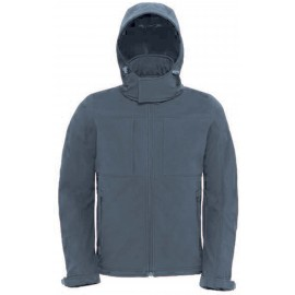 CGJM950 - Hooded Softshell dark grey
