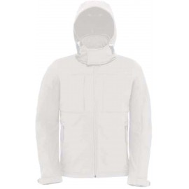 CGJM950 - Hooded Softshell wit