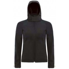 CGJW937 - Hooded Softshell Women black