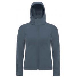 CGJW937 - Hooded Softshell Women dark grey