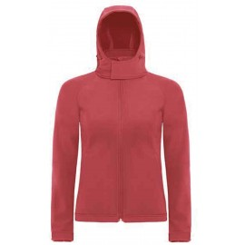 CGJW937 - Hooded Softshell Women red