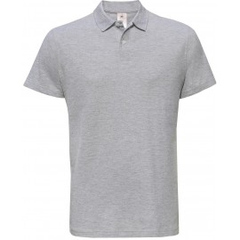 Polo B&C I.D.  heather grey