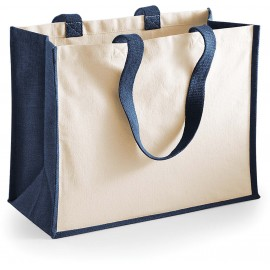 W422 Jute Shopper navy