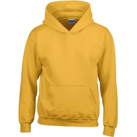 GI18500B heavy blend hooded sweater gold