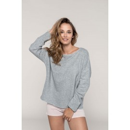 "K471 - Damessweater ""Loose fit"" light grey"