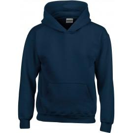 GI18500B heavy blend hooded sweater navy