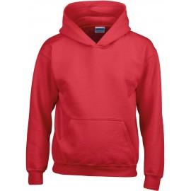 GI18500B heavy blend hooded sweater red