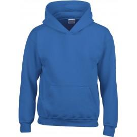 GI18500B heavy blend hooded sweater royal blue
