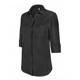 K558 dameshemd met 3/4 mouw black