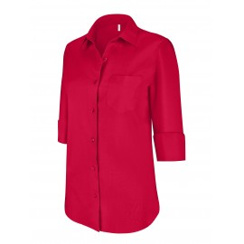 K558 dameshemd met 3/4 mouw classic red