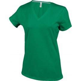 K381 - Dames  V-hals kelly green