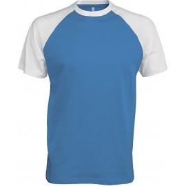 K330 - Baseball aqua blue/white