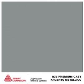 Avery 835 silver metalic gegoten folie extra dun