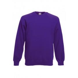 SC4 - Classic Raglan Sweat (62-216-0) FRUIT OF THE LOOM purple