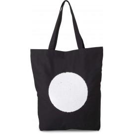 KI0234 - Shopper met lovertjes zwart