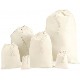 W115 - Cotton Stuff Bag natural 15*10 cm, tot 22 nov -55%
