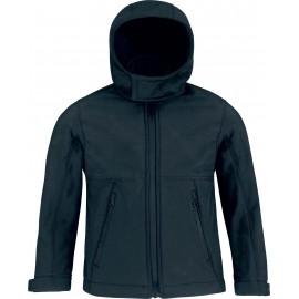 CGJK969  B&CKids' hooded softshell zwart tot 2 nov -55%