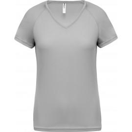 PA477 - Dames sport-t-shirt V-hals aqua tot 11 dec -53%