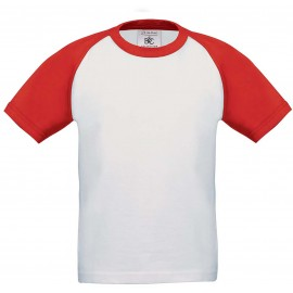 CGTK350 - Kids' Base-ball T-shirt wit navy, tot 11 dec -56%