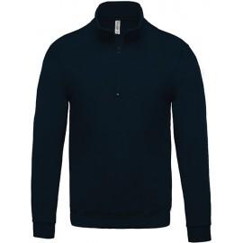 K478 - Sweater met ritshals zwart