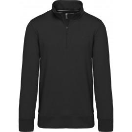 K487 - Sweater met ritshals zwart