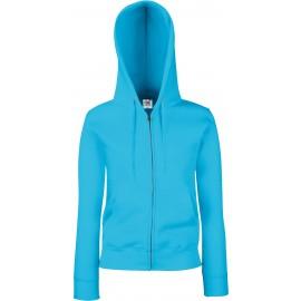 SC62118 - Lady-Fit Premium Hooded Sweat Jacket zwart