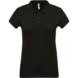 K255 - Piqué-damespolo zwart