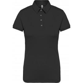 K263 jersey polo zwart, kleine maatjes