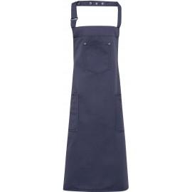 PR132 - Chino - Cotton bib apron zwart