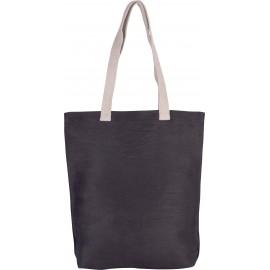 KI0229 - Shopper van jute/katoen zwart